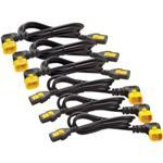 Power Cord Kit (6 ea), Locking, C13 TO C14 (90 Degree)/ 0.6m