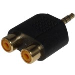 3.5mm Stereo Jack To 2 X Rca/phono Female Adapter